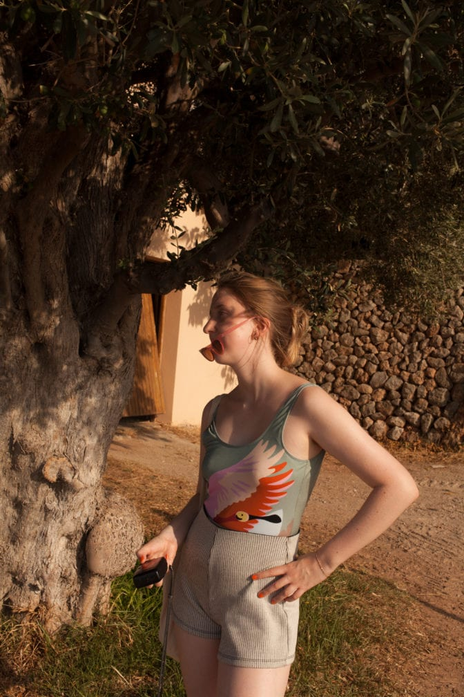Portrait of photographer Becca Häfner in Mallorca 2019 by Marie Haefner