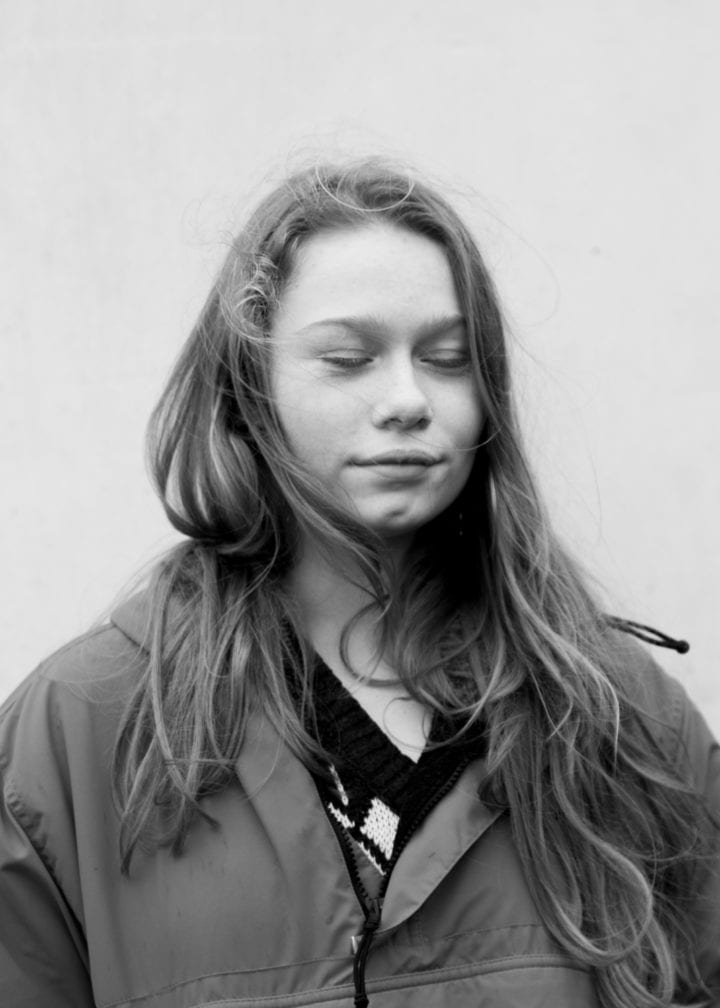 Black and white Portrait of Teenager by Marie Haefner